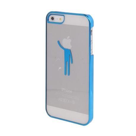 Coque transparente Boy tête logo apple iPhone 5