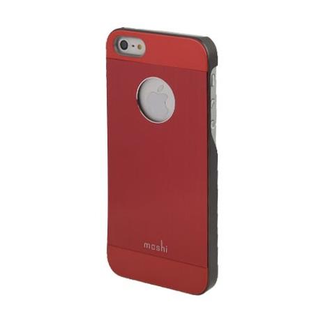 Coque en métal Logo Apple iPhone 5 couleur rouge