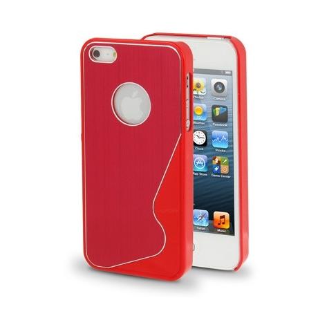 Coque wave design iPhone 5 couleur Rouge
