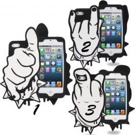 Coque doigts en silicone iPhone 5