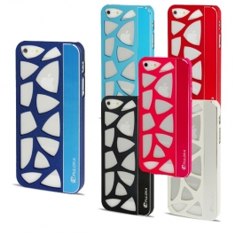 Coque en metal design mosaïque iPhone 5