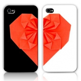 Duo coques Love origami iPhone 5/5S