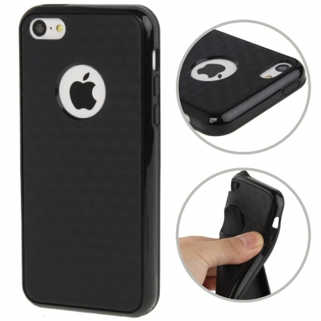 coque iphone 5c silicone logo apple