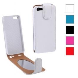 Etui de protection en cuir avec miroir pour iPhone 5 (couleur au choix)