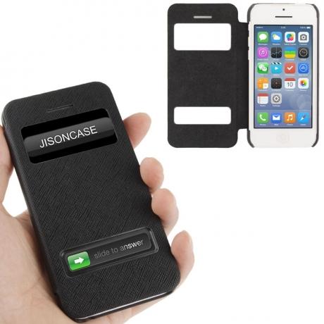 Housse à rabat iPhone 5C couleur noir