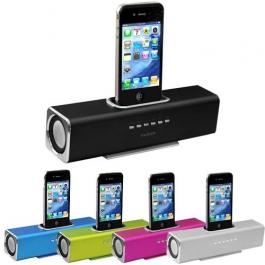 Station d'accueil enceinte Square en aluminium pour iPhone et iPod