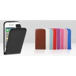 Etui Flip vertical en cuir iPhone 4 et 4S