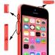 Kit boutons de remplacement iPhone 5C couleur rose