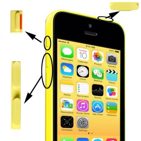 Kit boutons de remplacement iPhone 5C couleur jaune