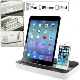 Dock & enceinte iPad | iPhone | iPod couleur argent