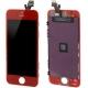 Ecran de remplacement complet iPhone 5 : LCD + dalle tactile + Cadre couleur rouge