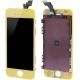 Ecran de remplacement complet iPhone 5 : LCD + dalle tactile + Cadre couleur jaune