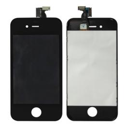 écran complet + vitre tactile iPhone 4/4S couleur noir