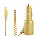 Chargeur Adaptateur Lightning de voiture iPhone 5/5S Gold/or