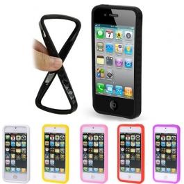 Bumper de protection en silicone pour iPhone 5 (couleur au choix)