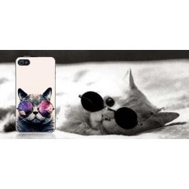 Coque iPhone 4 et 4S Chat à lunettes