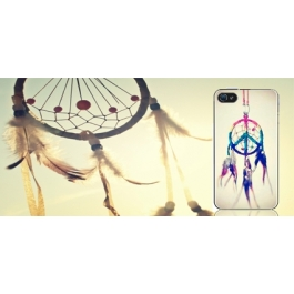Coque iPhone 4 et 4S Attrape rêves peace and love