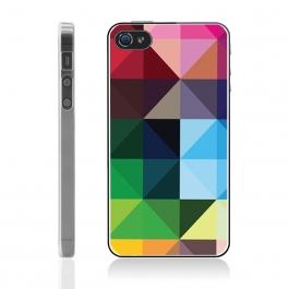Coque iPhone 4 et 4S Cubes multicolores